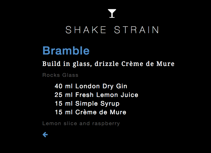 shake strain moble cocktails